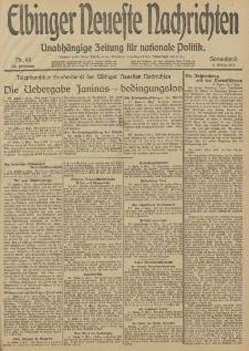 Elbinger Neueste Nachrichten, Nr. 66 Sonnabend 8 März 1913 65. Jahrgang