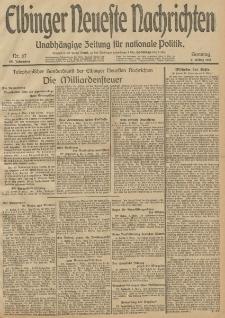 Elbinger Neueste Nachrichten, Nr. 67 Sonntag 9 März 1913 65. Jahrgang