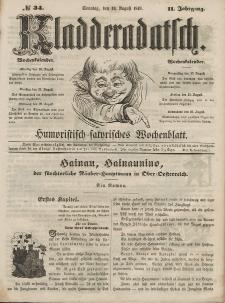 Kladderadatsch, 2. Jahrgang, Sonntag, 19. August 1849, Nr. 34