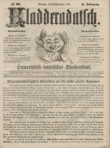 Kladderadatsch, 2. Jahrgang, Sonntag, 2. September 1849, Nr. 36