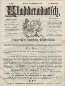 Kladderadatsch, 2. Jahrgang, Sonntag, 18. November 1849, Nr. 47