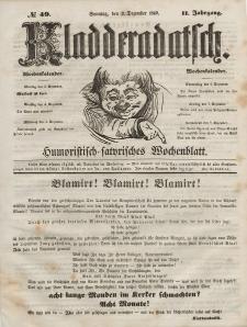 Kladderadatsch, 2. Jahrgang, Sonntag, 2. Dezember 1849, Nr. 49