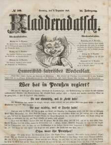 Kladderadatsch, 2. Jahrgang, Sonntag, 9. Dezember 1849, Nr. 50