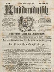 Kladderadatsch, 2. Jahrgang, Sonntag, 16. Dezember 1849, Nr. 51