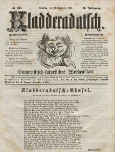 Kladderadatsch, 2. Jahrgang, Sonntag, 23. Dezember 1849, Nr. 52