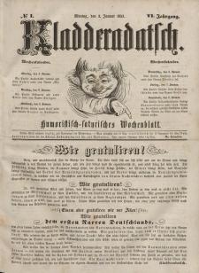 Kladderadatsch, 6. Jahrgang, Montag, 3. Januar 1853, Nr. 1