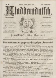 Kladderadatsch, 6. Jahrgang, Sonntag, 23. Januar 1853, Nr. 4