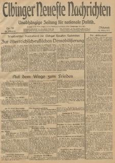 Elbinger Neueste Nachrichten, Nr. 70 Mittwoch 12 März 1913 65. Jahrgang