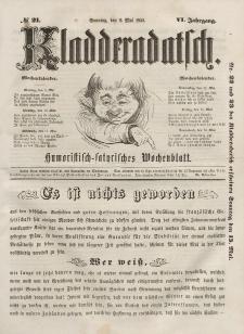 Kladderadatsch, 6. Jahrgang, Sonntag, 8. Mai 1853, Nr. 21