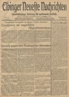 Elbinger Neueste Nachrichten, Nr. 71 Donnerstag 13 März 1913 65. Jahrgang