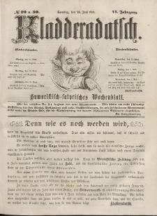 Kladderadatsch, 6. Jahrgang, Sonntag, 26. Juni 1853, Nr. 29/30