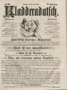 Kladderadatsch, 6. Jahrgang, Sonntag, 17. Juli 1853, Nr. 33
