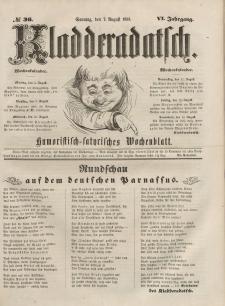 Kladderadatsch, 6. Jahrgang, Sonntag, 7. August 1853, Nr. 36