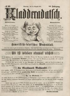 Kladderadatsch, 6. Jahrgang, Sonntag, 14. August 1853, Nr. 37