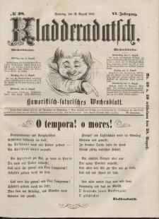Kladderadatsch, 6. Jahrgang, Sonntag, 21. August 1853, Nr. 38