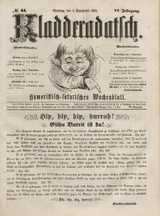 Kladderadatsch, 6. Jahrgang, Sonntag, 4. September 1853, Nr. 41