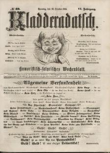 Kladderadatsch, 6. Jahrgang, Sonntag, 23. Oktober 1853, Nr. 49