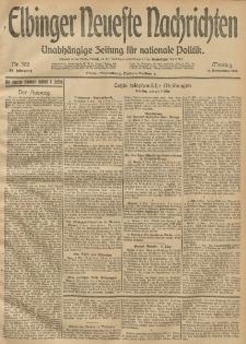 Elbinger Neueste Nachrichten, Nr. 302 Montag 3 November 1913 65. Jahrgang