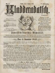 Kladderadatsch, 7. Jahrgang, 1. Januar 1854, Nr. 1
