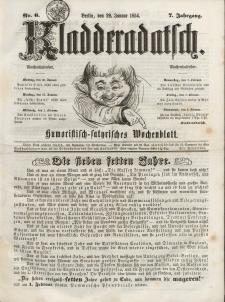 Kladderadatsch, 7. Jahrgang, 29. Januar 1854, Nr. 6