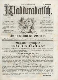 Kladderadatsch, 7. Jahrgang, 5. Februar 1854, Nr. 7