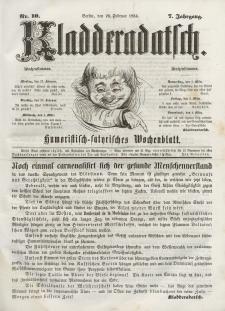 Kladderadatsch, 7. Jahrgang, 26. Februar 1854, Nr. 10