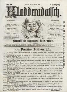 Kladderadatsch, 7. Jahrgang, 19. März 1854, Nr. 13