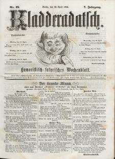 Kladderadatsch, 7. Jahrgang, 16. April 1854, Nr. 18