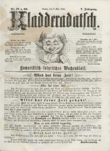 Kladderadatsch, 7. Jahrgang, 7. Mai 1854, Nr. 21/22