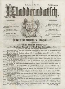 Kladderadatsch, 7. Jahrgang, 14. Mai 1854, Nr. 23