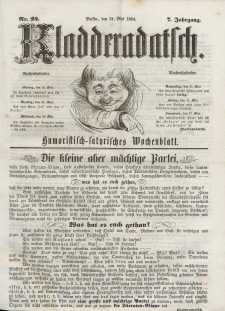 Kladderadatsch, 7. Jahrgang, 21. Mai 1854, Nr. 24