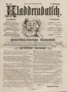 Kladderadatsch, 7. Jahrgang, 3. September 1854, Nr. 41
