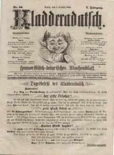 Kladderadatsch, 7. Jahrgang, 1. Oktober 1854, Nr. 46