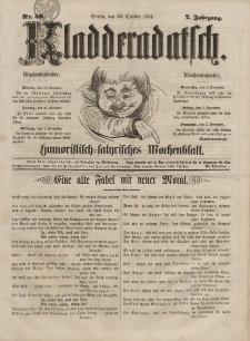 Kladderadatsch, 7. Jahrgang, 29. Oktober 1854, Nr. 50
