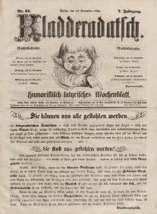 Kladderadatsch, 7. Jahrgang, 19. November 1854, Nr. 54