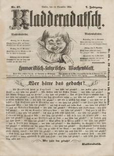 Kladderadatsch, 7. Jahrgang, 10. Dezember 1854, Nr. 57
