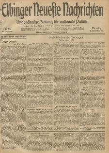 Elbinger Neueste Nachrichten, Nr. 310 Dienstag 11 November 1913 65. Jahrgang