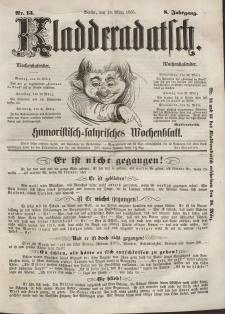 Kladderadatsch, 8. Jahrgang, 18. März 1855, Nr. 13