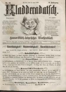Kladderadatsch, 8. Jahrgang, 15. April 1855, Nr. 18