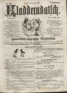 Kladderadatsch, 8. Jahrgang, 13. Mai 1855, Nr. 23