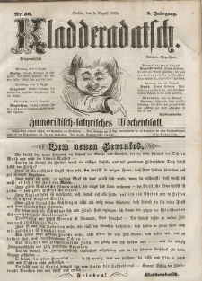 Kladderadatsch, 8. Jahrgang, 5. August 1855, Nr. 36