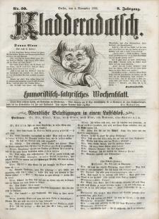 Kladderadatsch, 8. Jahrgang, 4. November 1855, Nr. 50