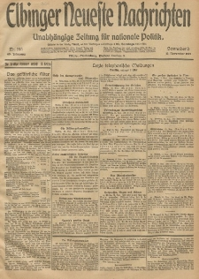 Elbinger Neueste Nachrichten, Nr. 314 Sonnabend 15 November 1913 65. Jahrgang