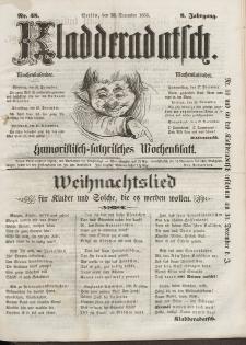 Kladderadatsch, 8. Jahrgang, 23. Dezember 1855, Nr. 58