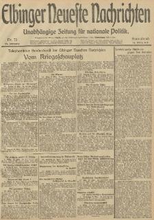 Elbinger Neueste Nachrichten, Nr. 73 Sonnabend 15 März 1913 65. Jahrgang
