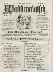 Kladderadatsch, 9. Jahrgang, 23. März 1856, Nr. 13