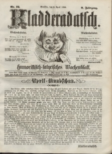 Kladderadatsch, 9. Jahrgang, 6. April 1856, Nr. 16
