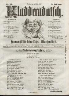 Kladderadatsch, 9. Jahrgang, 4. Mai 1856, Nr. 20