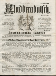 Kladderadatsch, 9. Jahrgang, 8. Juni 1856, Nr. 26