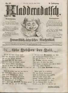 Kladderadatsch, 9. Jahrgang, 15. Juni 1856, Nr. 27
